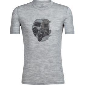 Icebreaker Tech Lite Camper t-shirt Heren grijs